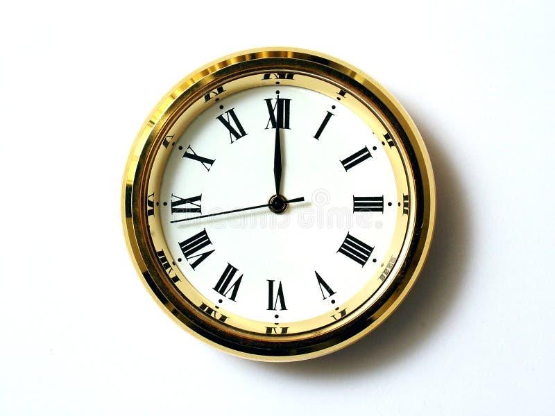 Zeit zwölf lizenzfreies stockbild