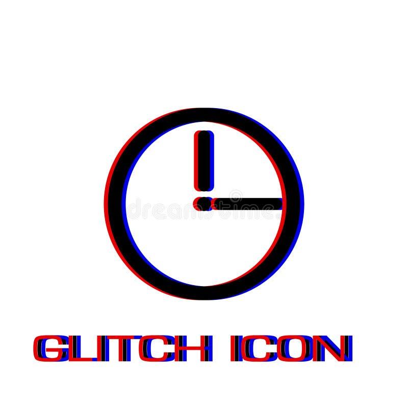 Zeitablauf Ikone flach lizenzfreie abbildung