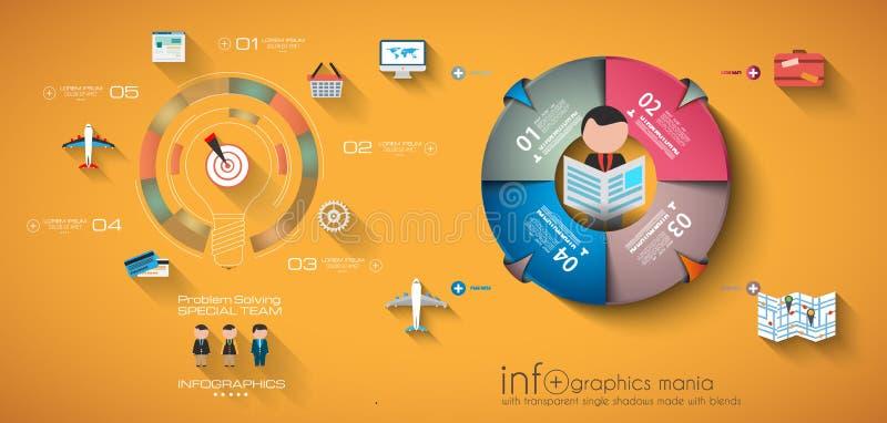 Zeitachse Infographic-Designschablone stock abbildung