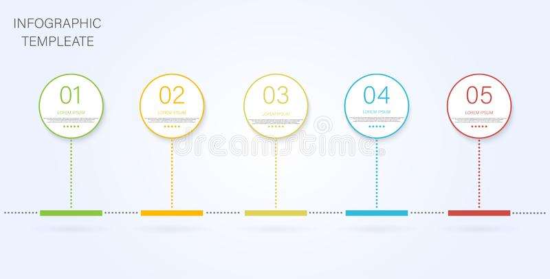 Zeitachse Infographic Infochart mit der Zeitachse infographic Grafische Vektorelemente der einfachen modernen Informationen Zeita stock abbildung