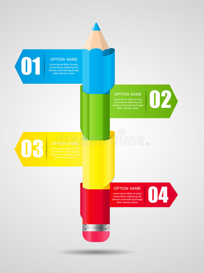 Zeitachse Infographic-Schablone für Geschäfts-Vektor vektor abbildung