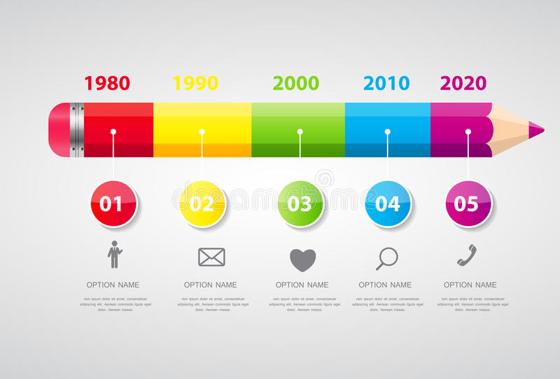 Zeitachse Infographic-Schablone für Geschäfts-Vektor stock abbildung