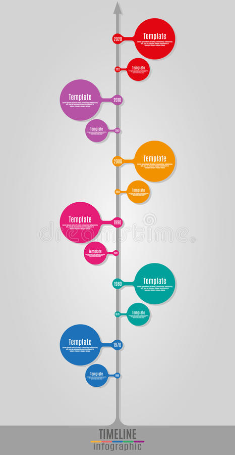 Zeitachse Infographics-Vertikale vektor abbildung