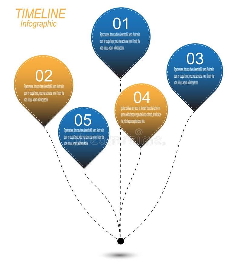 Zeitachse, zum Ihrer Daten mit Infographic-Elementen anzuzeigen lizenzfreie abbildung