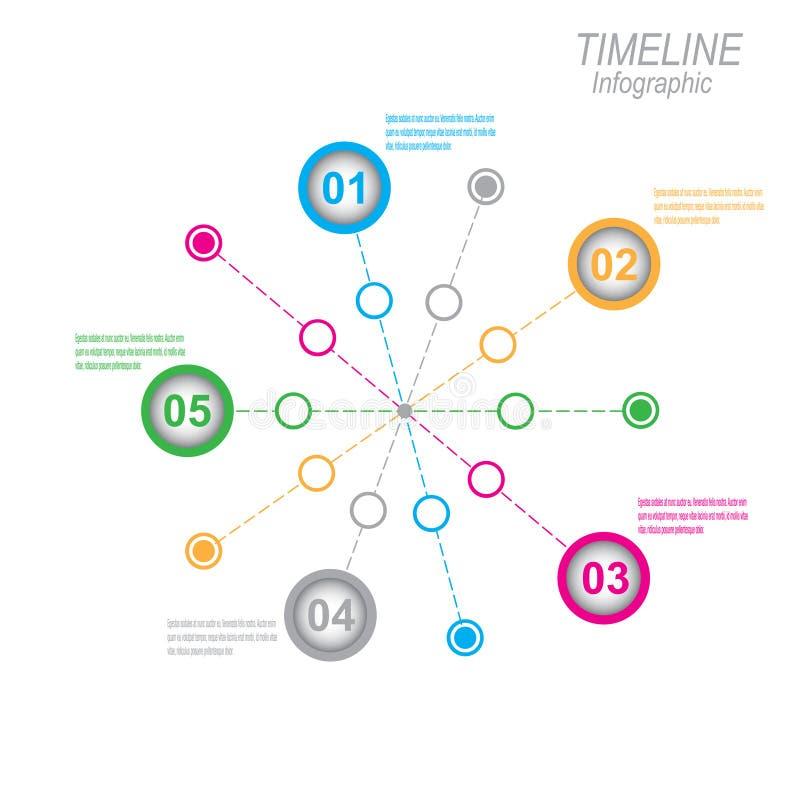 Zeitachse, zum Ihrer Daten mit Infographic-Elementen anzuzeigen vektor abbildung