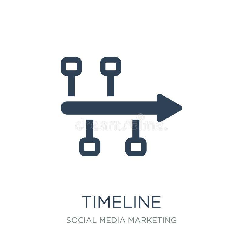 Zeitachseikone in der modischen Entwurfsart Zeitachseikone lokalisiert auf weißem Hintergrund einfache und moderne Ebene der Zeit lizenzfreie abbildung