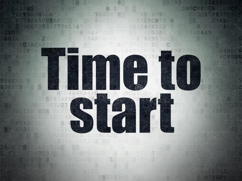 Zeitachsekonzept: Zeit, auf Digital-Daten zu beginnen tapezieren Hintergrund lizenzfreie abbildung