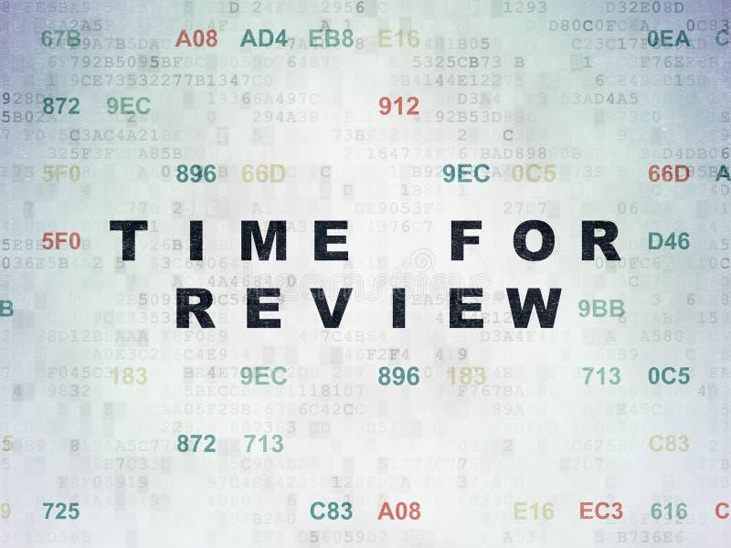 Zeitachsekonzept: Zeit für Bericht auf Digital-Daten tapezieren Hintergrund stock abbildung