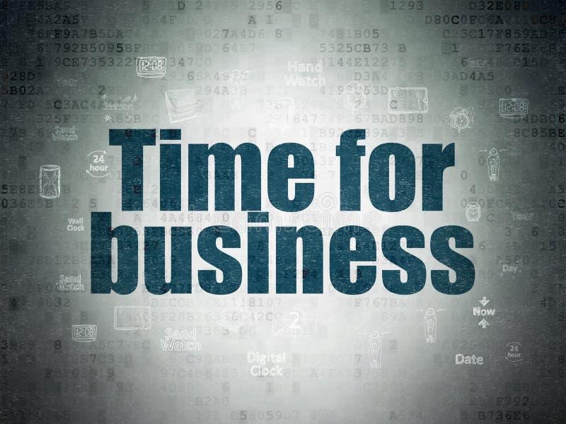 Zeitachsekonzept: Zeit für Geschäft auf Digital-Daten tapezieren Hintergrund vektor abbildung