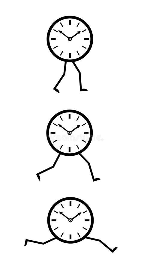Zeitbetrieb lizenzfreie abbildung