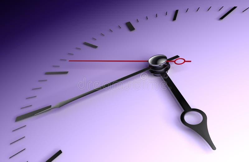 Zeitborduhrnahaufnahme auf tiefem Blau lizenzfreie abbildung