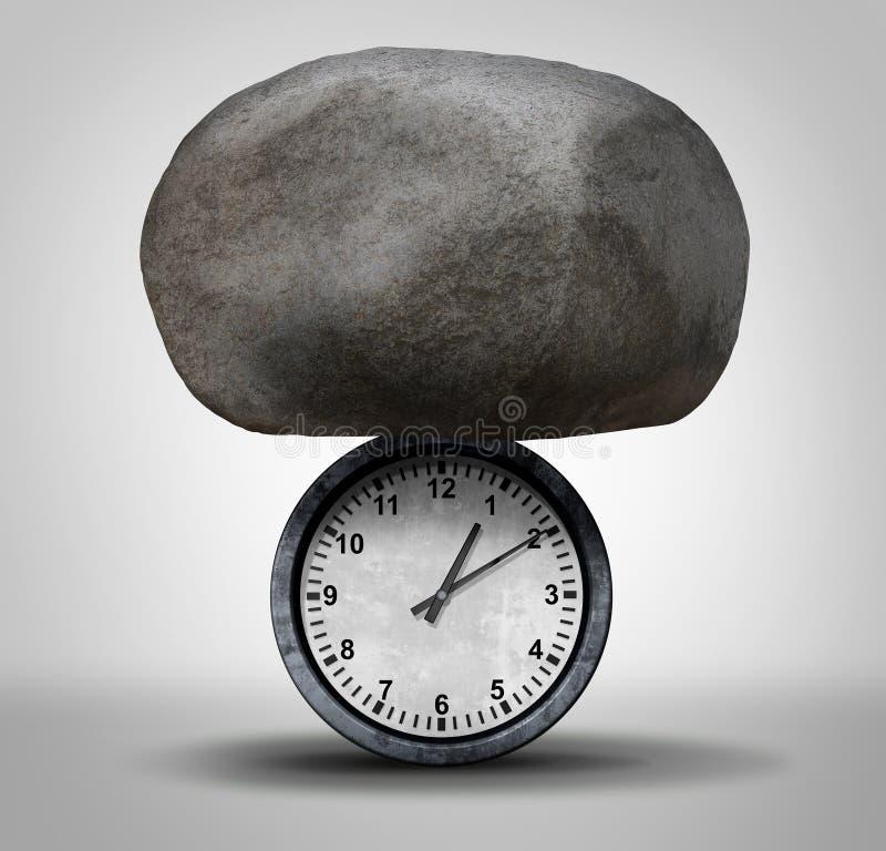 Zeitdruck vektor abbildung
