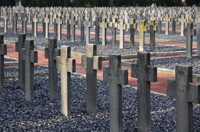 Zeitenlik, объединенное воинское кладбище и парк WWI мемориальный внутри стоковая фотография rf