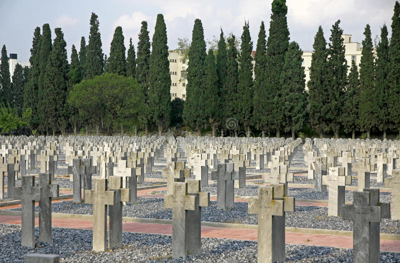 Zeitenlik, объединенное воинское кладбище и парк WWI мемориальный внутри стоковые изображения