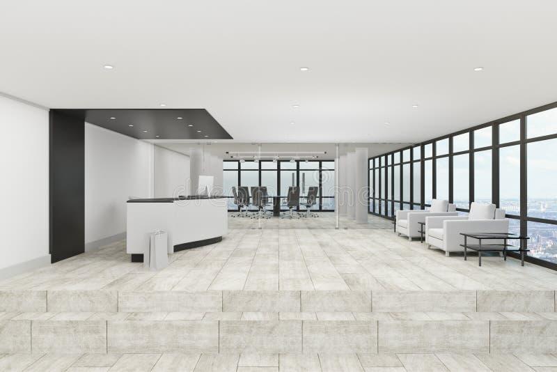 Zeitgenössische Büro-Vorhalle lizenzfreie abbildung