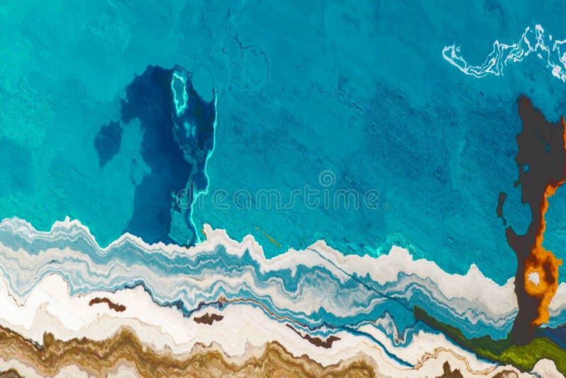 Zeitgenössische Kunst moderne Grafik Abstrakter Malereihintergrund Helles dynamisches Muster Künstlerische Mehrfarbenbeschaffenhe vektor abbildung