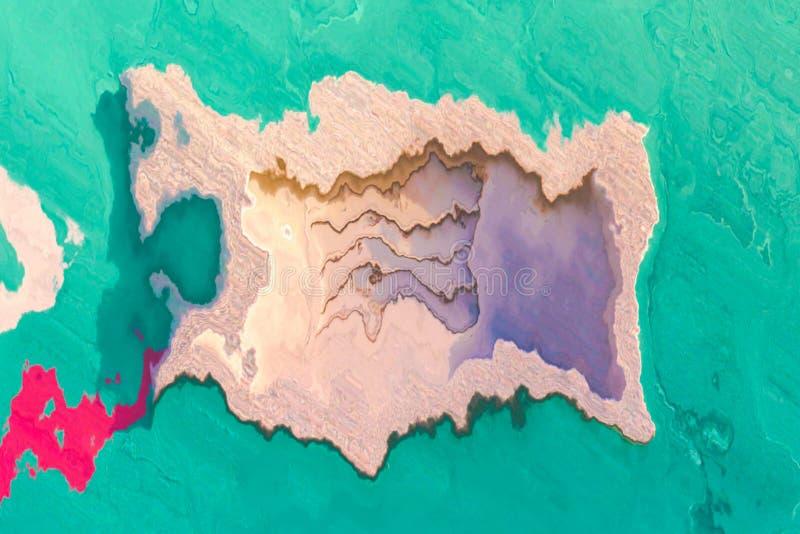 Zeitgenössische Kunst moderne Grafik Abstrakter Malereihintergrund Helles dynamisches Muster Künstlerische Mehrfarbenbeschaffenhe lizenzfreie abbildung