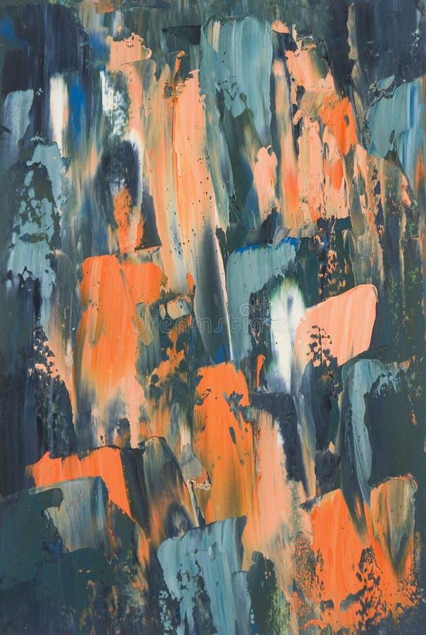 Zeitgenössischer abstrakter Ölgemälde-Hintergrund lizenzfreies stockfoto
