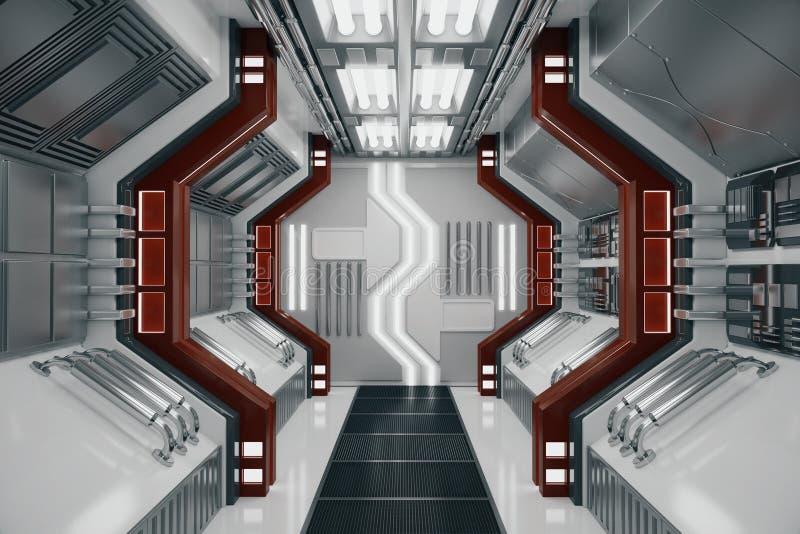 Zeitgenössischer futuristischer Tunnel stock abbildung