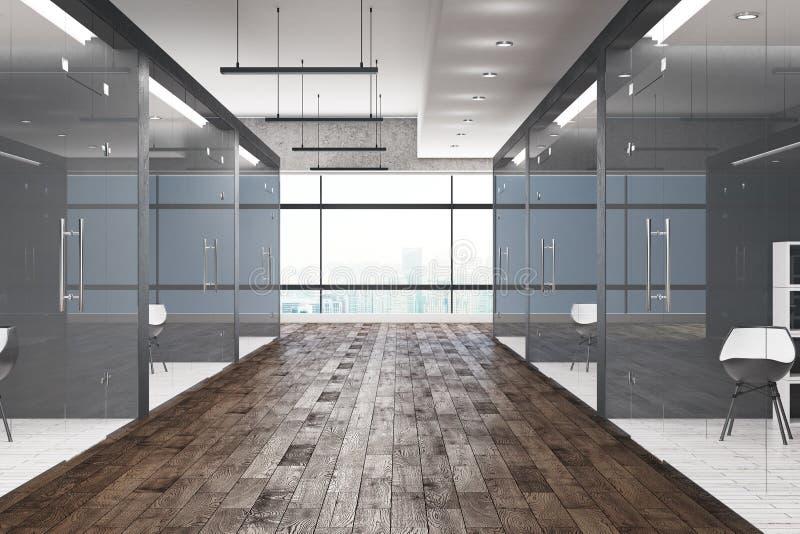 Zeitgenössischer Halleninnenraum stock abbildung