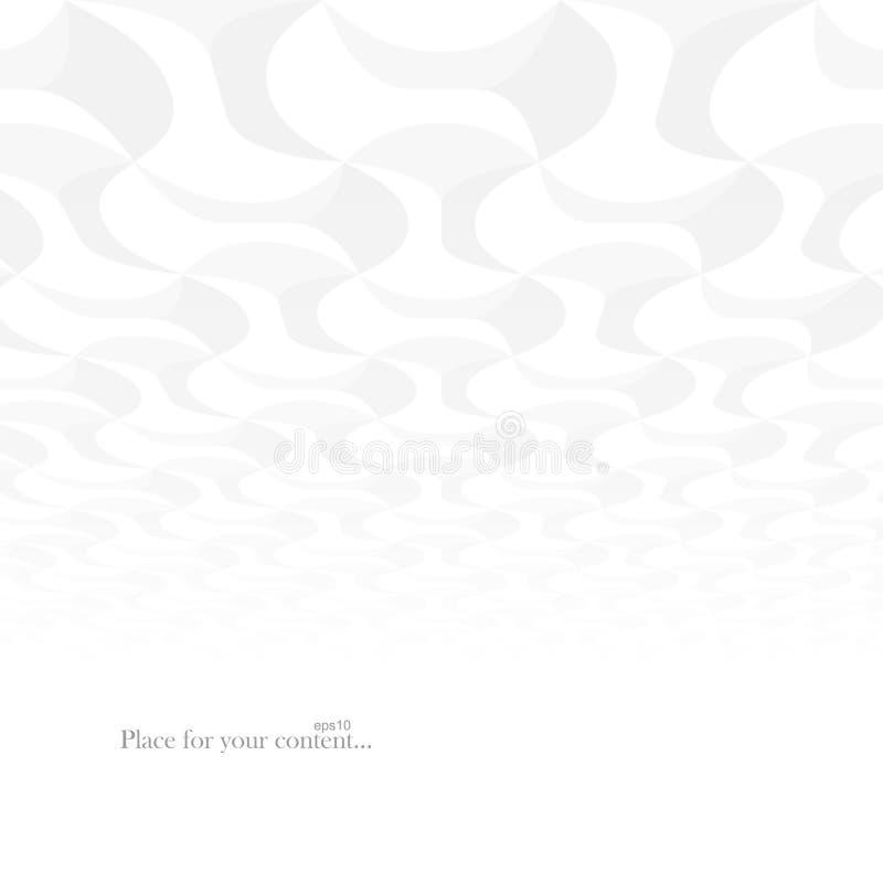 Zeitgenössischer Restlichthintergrund des Zusammenfassungsvektors mit Perspektive Wei?e und graue geometrische Formen - Fliesenbe stock abbildung