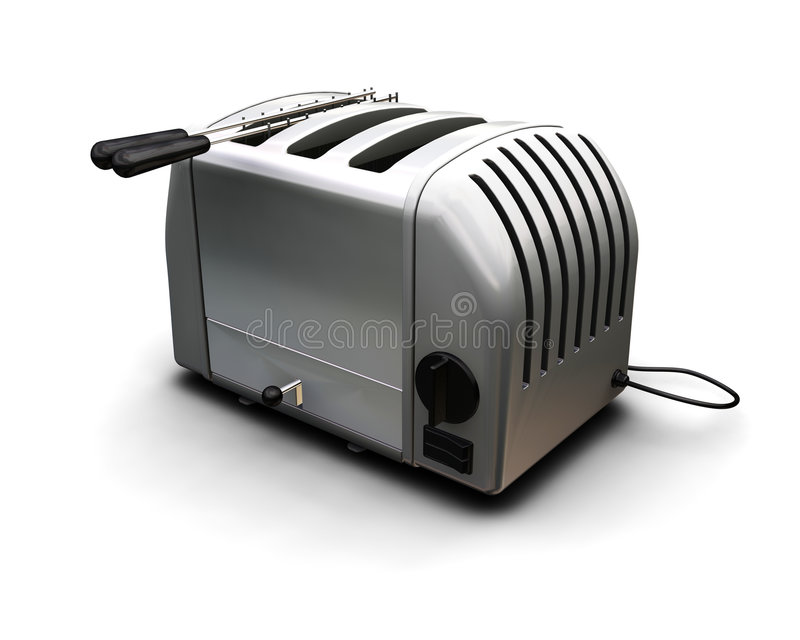 Zeitgenössischer Toaster stock abbildung