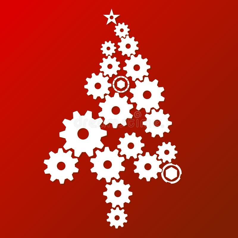 Zeitgenössischer Weihnachtsbaum stock abbildung