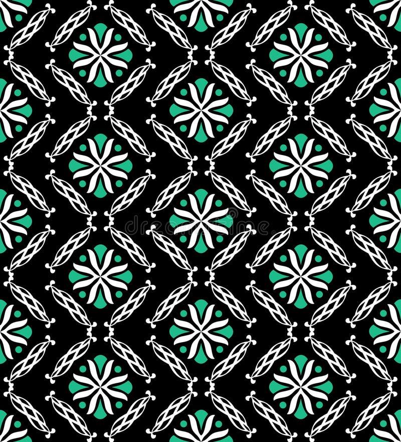 Zeitgenössisches grünes schwarzes nahtloses stock abbildung