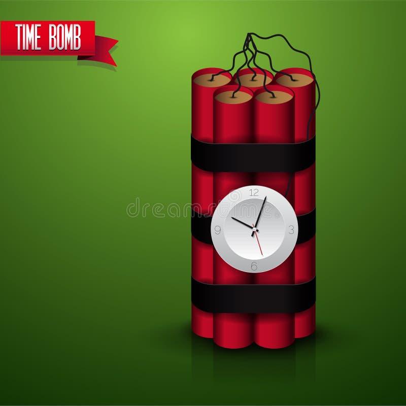 Zeitgesteuerter Bombenvektor Lizenzfreie Stockbilder