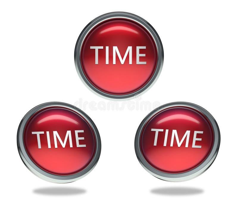 Zeitglasknopf stock abbildung
