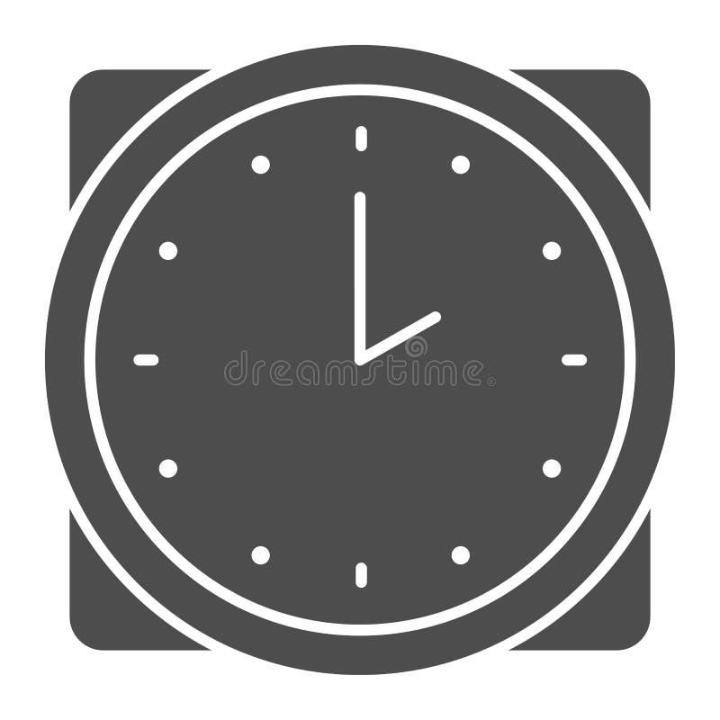 Zeitkörperikone E Stunde Glyph-Artentwurf, bestimmt für Netz und App ENV 10 vektor abbildung