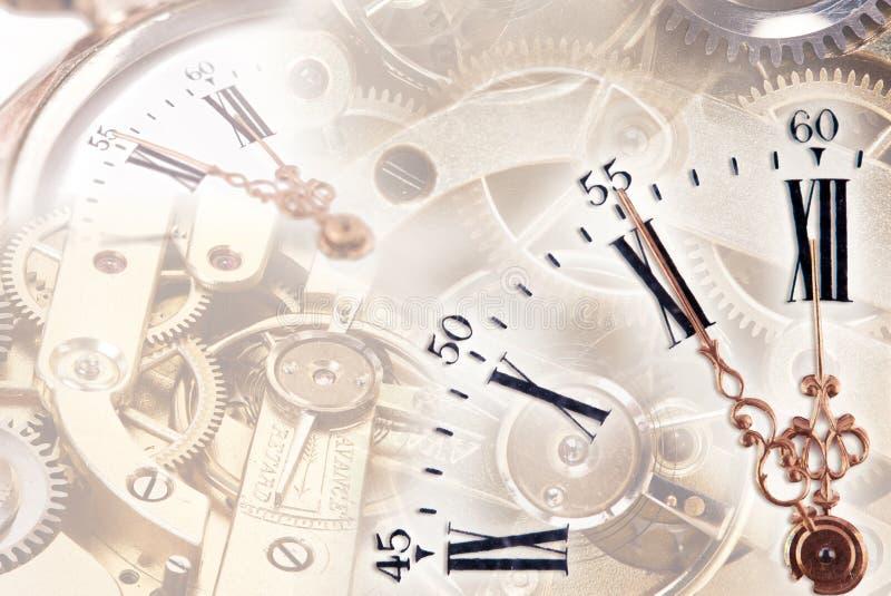 Zeitkonzept mit Uhr stockbilder