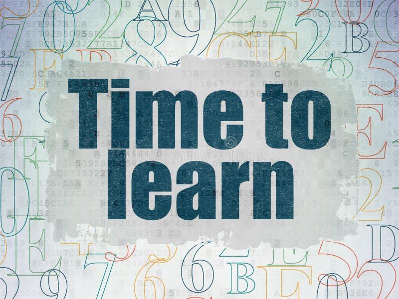 Zeitkonzept: Zeit, auf Digital-Daten zu lernen tapezieren Hintergrund lizenzfreie abbildung