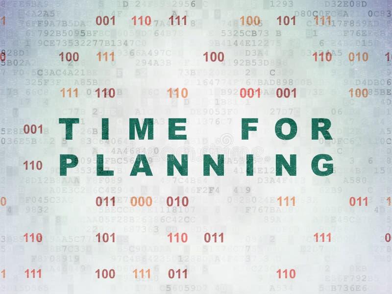 Zeitkonzept: Zeit für die Planung auf Digital-Daten tapezieren Hintergrund lizenzfreie abbildung