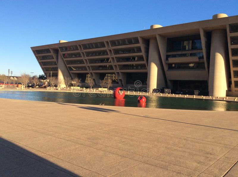 Zeitlose Dallas City Hall lizenzfreies stockbild