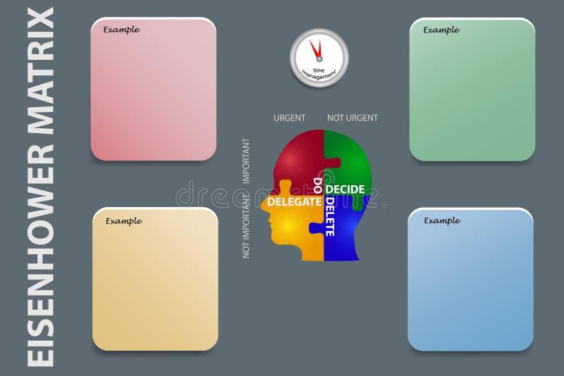 Zeitmanagement übt Vektor aus lizenzfreies stockfoto
