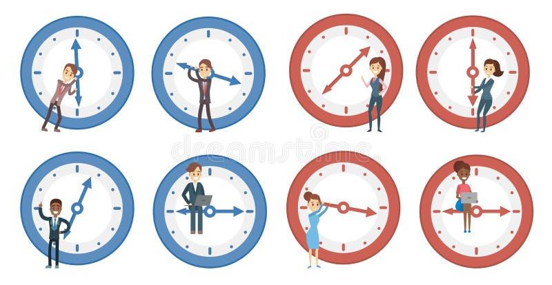 Zeitmanagementsatz vektor abbildung