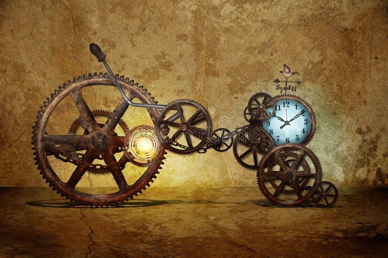 Zeitmaschine lizenzfreie stockfotos