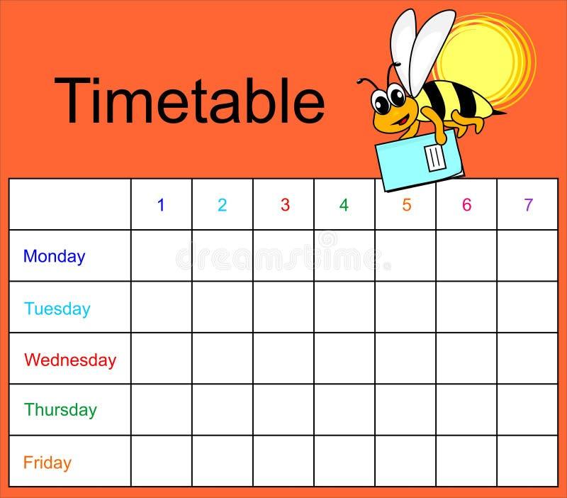 Zeitplan vektor abbildung