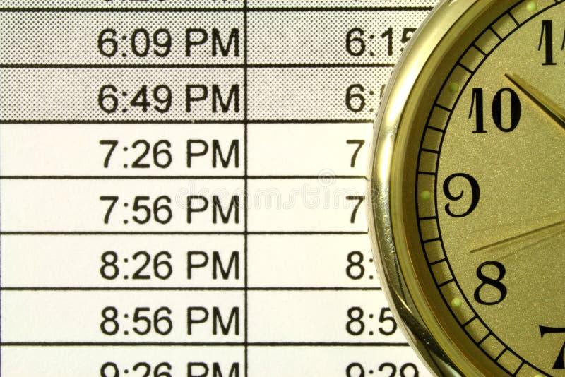 Zeitplan stockbild