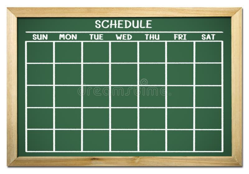 Zeitplan auf Tafel vektor abbildung