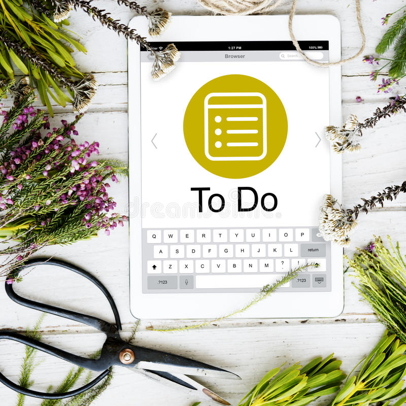 Zeitplan-Aufgaben-Tagesordnungs-Verabredungs-Planungs-Strategie-Konzept lizenzfreies stockbild