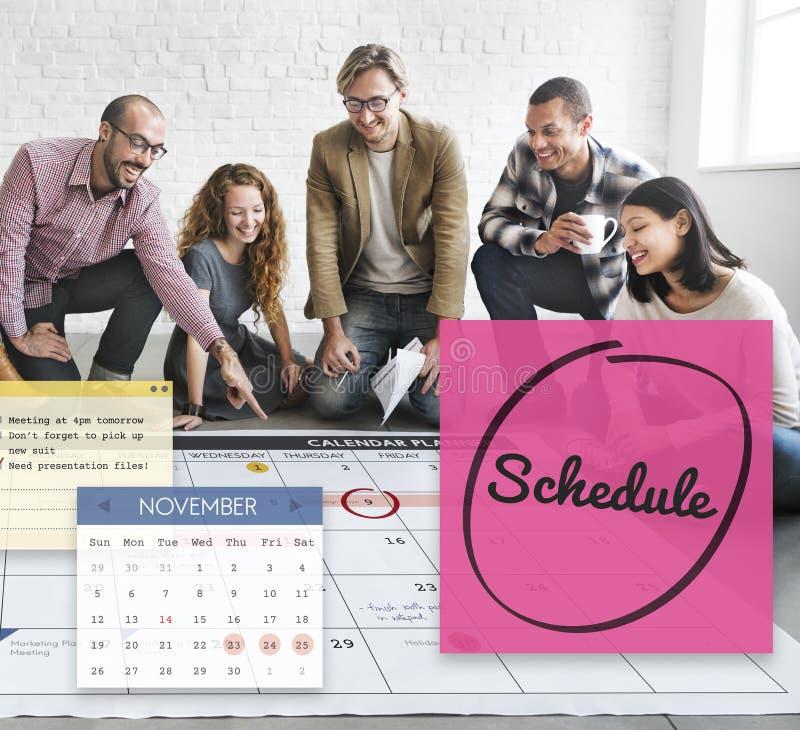 Zeitplan-Kalender-Planer-Organisation erinnern Konzept stockbilder