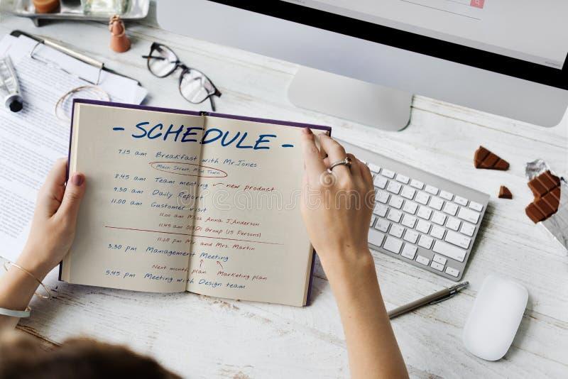 Zeitplan-Planungs-Zeit-Tätigkeits-Konzept lizenzfreies stockfoto