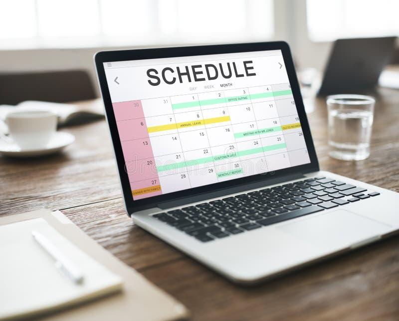 Zeitplan-Tätigkeits-Kalender-Verabredungs-Konzept stockbilder