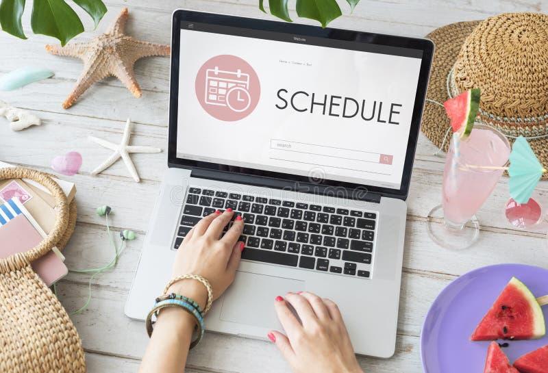 Zeitplan-Verabredungs-Sitzungs-Tagesordnungs-Planer-Konzept lizenzfreies stockfoto