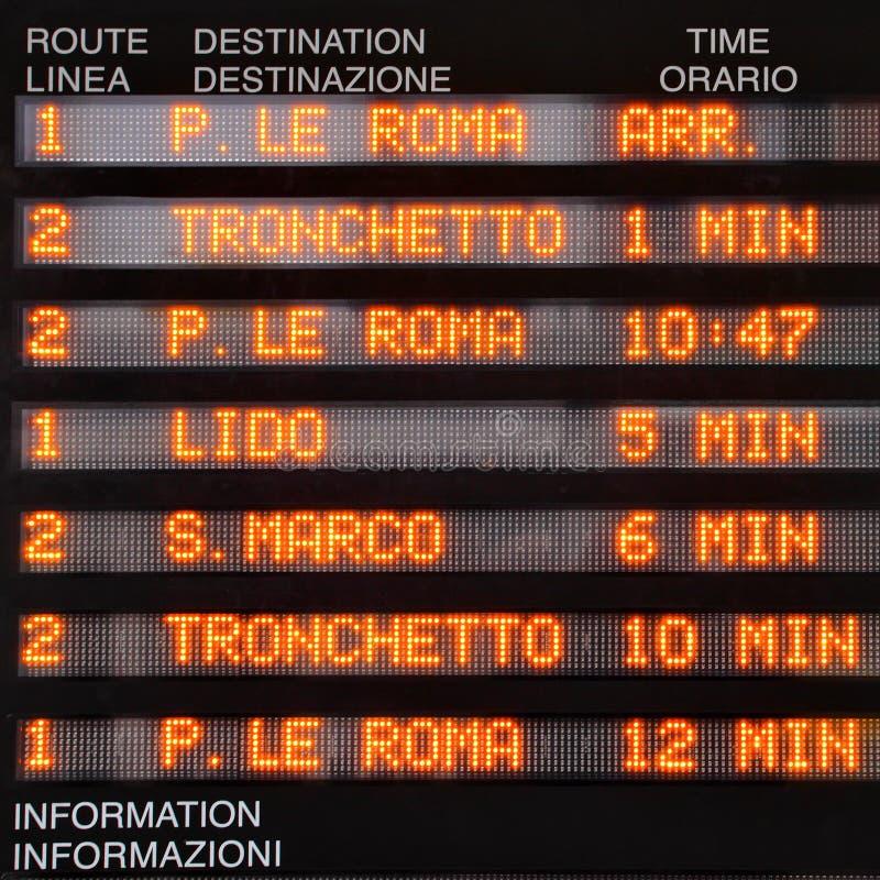 Zeitplan von waterbuses lizenzfreie stockbilder