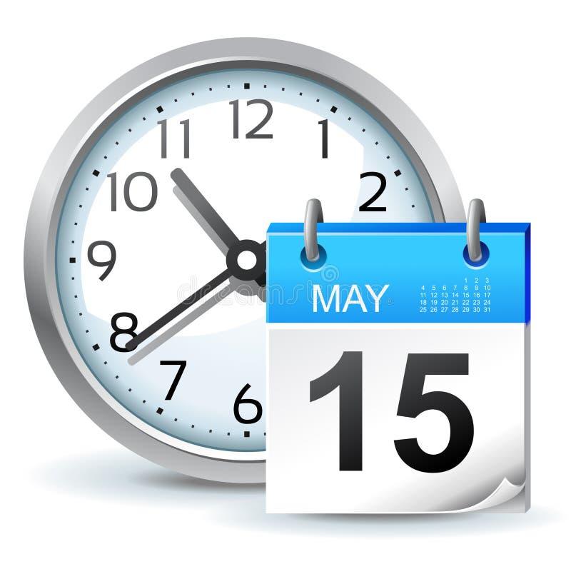 Zeitplanikone lizenzfreie abbildung