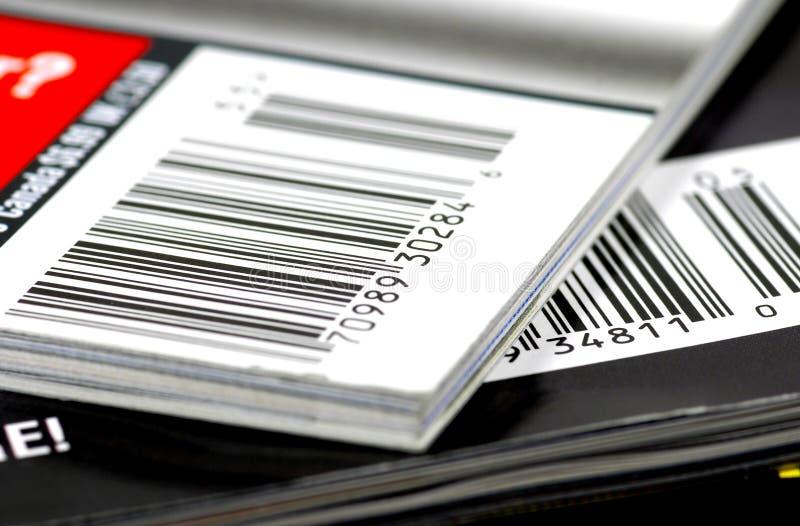 Zeitschriften-Barcodes stockbild