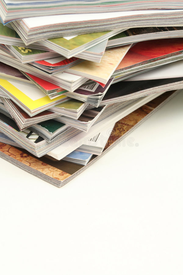 Zeitschriften-Stapel lizenzfreies stockfoto